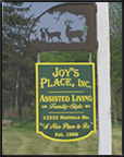 Joy's Place Sign